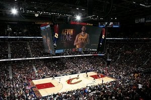 Cleveland Cavaliers, Quicken Loans Arena, Robbins All Star Portable Floor