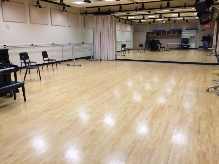 Dance Studio Hardwood Floor